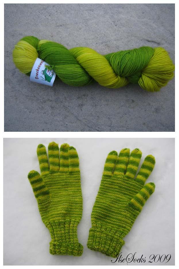 Drachenwolle (Knotenstrang) normale Sockenwollmischung (75% Schurwolle, 25% Polyester)