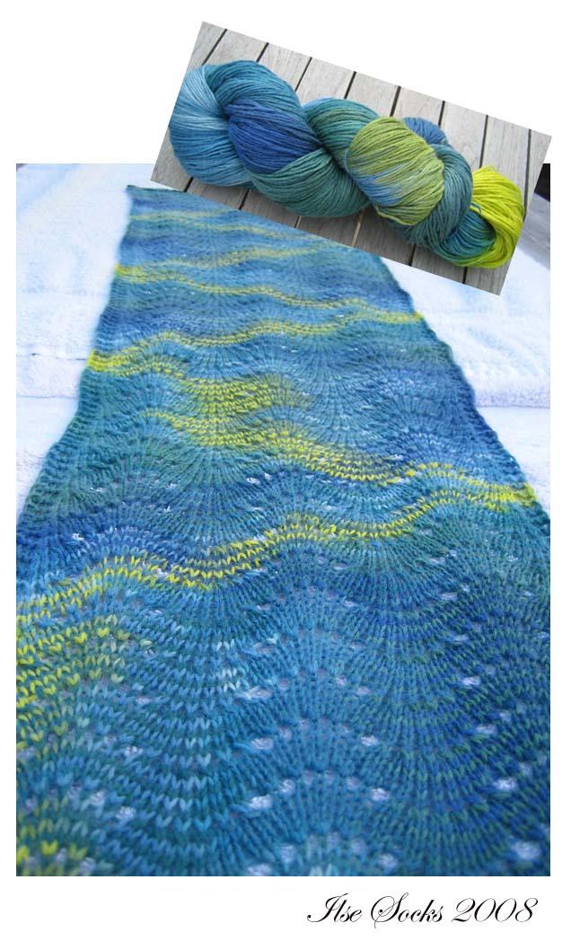 Schal Kashmir-Mischung selbstgefärbt