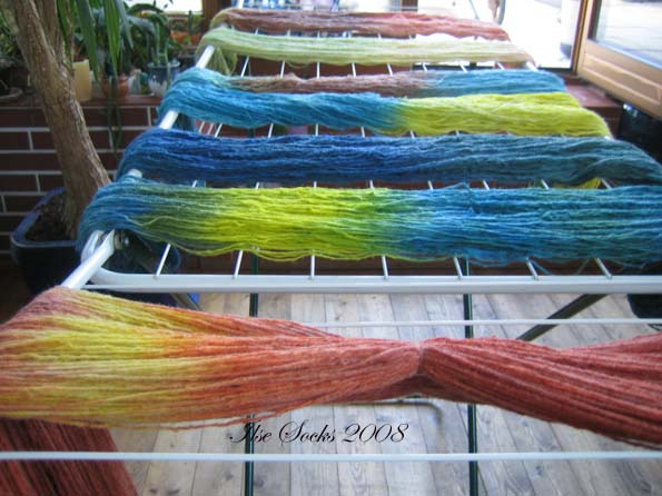 Wollfärben - Trocknen